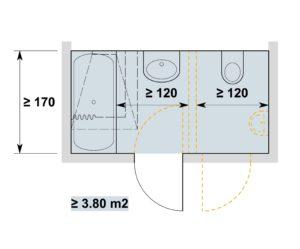 Nasszellen anpassbar / espaces sanitaires adaptables