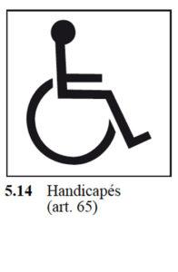 signal handicapés selon osr 741.21