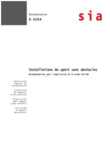 SIA D 0254 Image Installations de sport sans obstacles